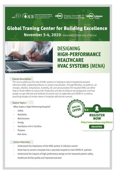 Picture of ASHRAE workshop registration for professionals